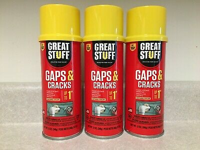 3 Cans  Dow Great Stuff Gaps & Cracks Expanding Foam Sealant Insulation 12oz