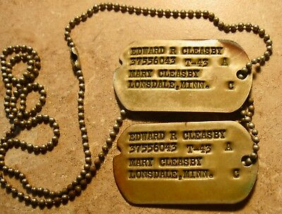 Vintage Id Military?  Dog Tags