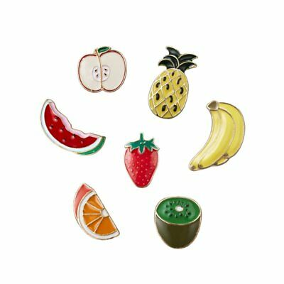 Enamel Pineapple Banana Brooches Pins Tropical Fruit Corsage Women Men Jewelry