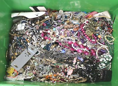 Large Lot of 12.3kg MIXED COSTUME JEWELLERY Necklaces, Bracelets, Craft  - C78