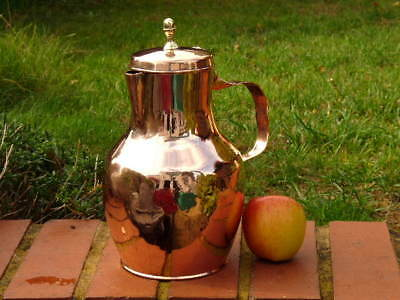 EARLY 19th CENTURY FRENCH COPPER QUART COFFEE POT with HAND CUT DOVETAILED SEAMS