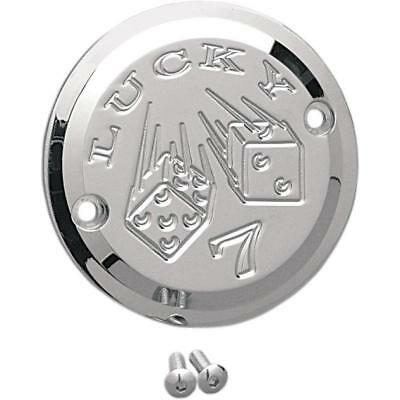 Joker Machine 2-Hole Points Cover Lucky 7 Chrome #921102L Harley Davidson