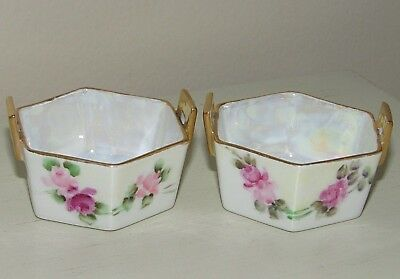 Vintage Set of 2  Noritake Nippon Porcelain Open Salt Dips