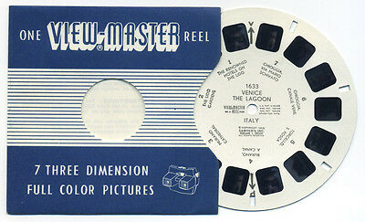 VENICE The LAGOON Italy 1959 Belgium-made ViewMaster Single Reel 1633