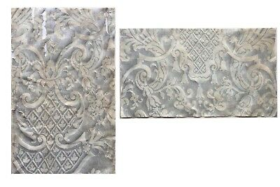 2 Pieces Mid 20th C. Italian Fortuny Cotton Fabric  (2495)