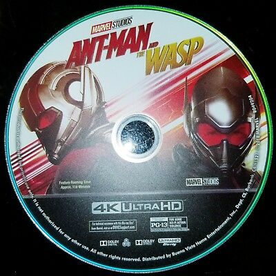 Ant-man And The Wasp 4K blu-ray - Like New - Disc only