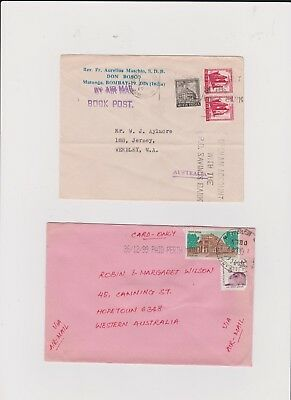 INDIA 2  OLD STAMP COVERS  grandpa special F