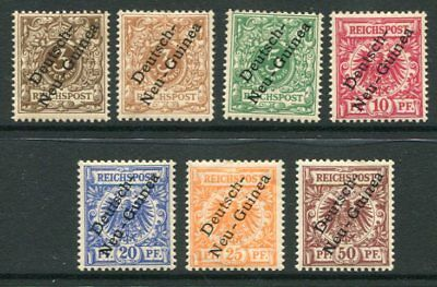GERMAN NEW GUINEA 1897-99 MH Set + SHADE 7 Stamps