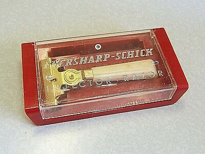 Vintage Eversharp Schick Textured Injector SE Safety Razor Set in Case 1946-1955