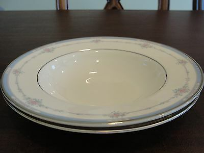 Royal Doulton Lisa 2 Rim Soup Bowls 8 1/4""