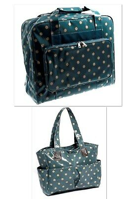 Sewing Machine Case Carry Bag with matching Craft Bag. Vinyl wipe clean material