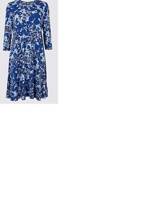 Marks and Spencer Floral Swing Dress - Size 22 - New with Tags