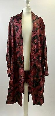 True vintage 1960s Tootal smoking jacket dressing gown robe ethnic print paisley