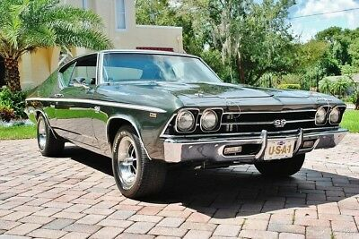 1969 Chevelle 396/325hp V8 Auto A/C Power Steering & Brakes 1969 chevy ss Fully Restored Air Conditioning Dual Exhaust SS Replica Wheels 396