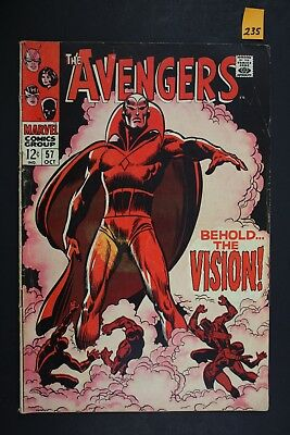 Vintage 1968 Marvel No. 57 The Avengers Comic Book Behold The Vision 235