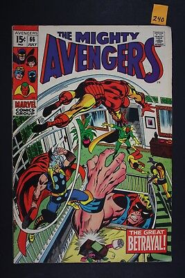 Vintage 1969 Marvel No. 66 The Avengers Comic Book Great Betrayal 240