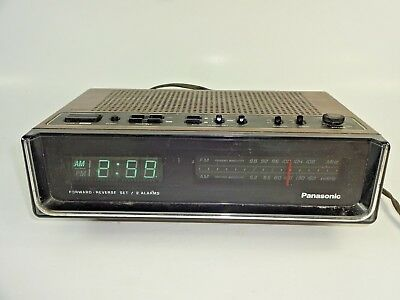 Vintage Panasonic RC-95 Digital Display Dual Alarm Clock AM/FM Radio ~ TESTED