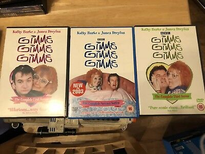 Gimme Gimme Gimme Complete Series 1, 2 & 3 DVD New Free Post  Kathy Burke