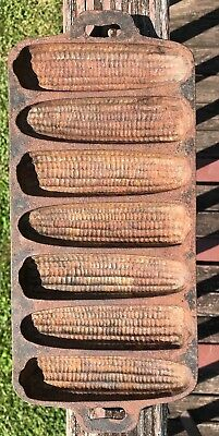 Vintage Cast Iron Corn Bread Muffin Pan Unmarked
