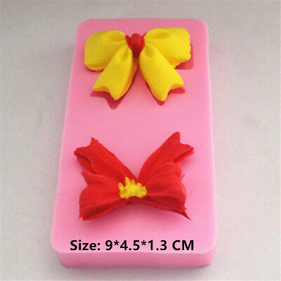 Double Bowknot Silicone Cake Mould Fondant Sugar Craft Chocolate Decorating Tool