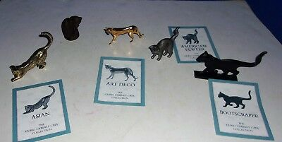 Lot of The Franklin Mint Curio Cabinet Cats 1986