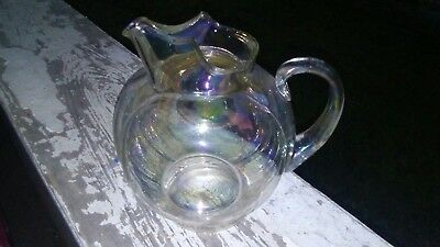 Vintage Water Pitcher - Clear Glass Luster - Beautiful