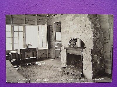 Vintage Rppc Real Photo Postcard Cabin View Long Lake Park Rapids Minnesota Mn