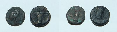 2 X  Ancient Greek Bronze Coins -  For Research