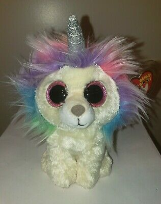 "Ty Beanie Boos ~ LAYLA the Rainbow Lion 6"" (Claire's Exclusive) NEW ~ IN HAND"