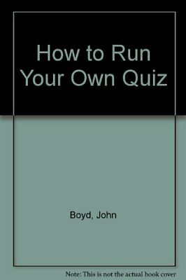 How to Run Your Own Quiz by Boyd, M.J. Paperback Book The Cheap Fast Free Post