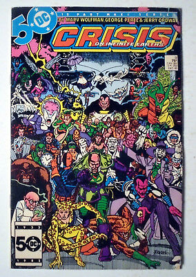 Crisis on Infinite Earths #9 Copper Age DC Comic Book 1985 FN-