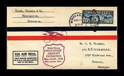 Dr Jim Stamps Us Northwest Aircraft Exposition Air Mail Event Cover Minneapolis