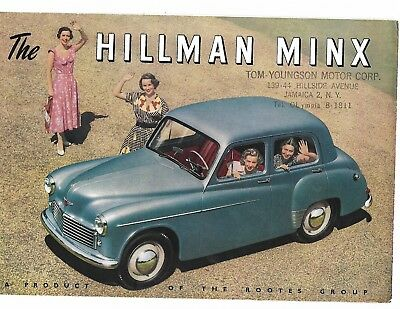 Hillman Minx  Brochure All Color Pics Product Of The Rootes Group