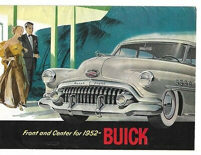 BUICK 1952 8 PAGE BROCHURE ALL COLOR PICS plus SPECIFICATION PAGE