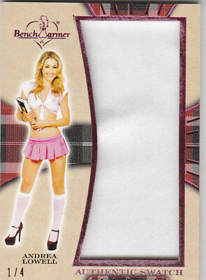 2018 Benchwarmer Hot For Teacher Andrea Lowell Authentic Swatch Card /4