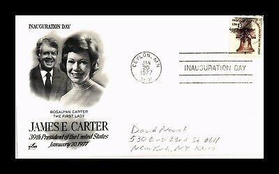 Dr Jim Stamps Us President Carter First Lady Rosalynn Inauguration Event Cover