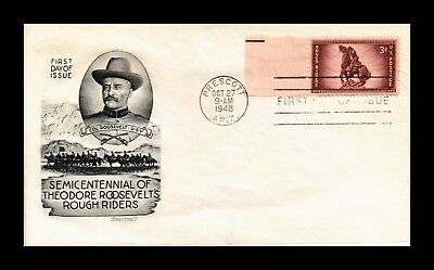 Dr Jim Stamps Us Roosevelts Rough Riders Smart Craft First Day Cover 1948