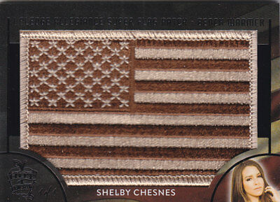 2018 Benchwarmer Hot For Teacher Shelby Chesnes Super Flag Patch Card /1 1/1