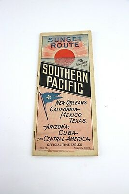 Sunset Route Southern Pacific Time Tables August 1895