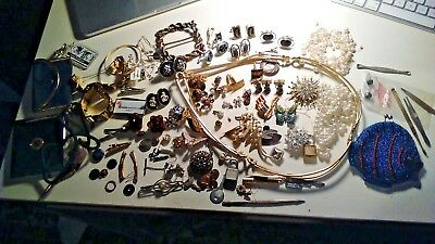 Vintage Jewelry Lot Mens Womens Estate 1950's-1970 Hi Value
