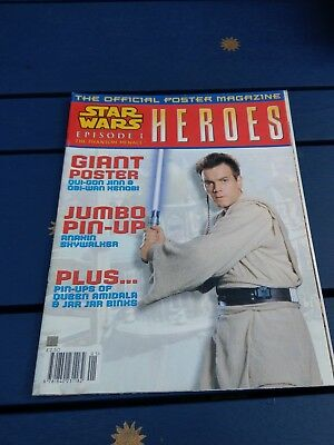 Star Wars UK Poster Magazine Heroes Issue 1 1999 Episode I The Phantom Menace