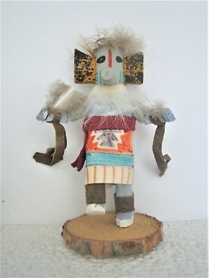 American Southwest Tribal Hopi Wood Carved 'crow Mother' Kachina Doll - 1950S