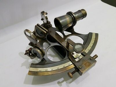 Nautical Brass Sextant 5 Inches Vintage Navy Working Antique finish sextant