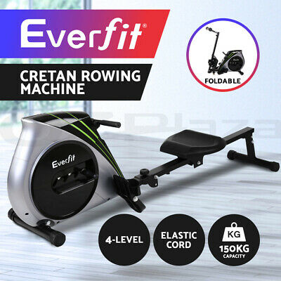 Everfit Rowing Exercise Machine Rower Resistance Fitness Home Gym Cardio
