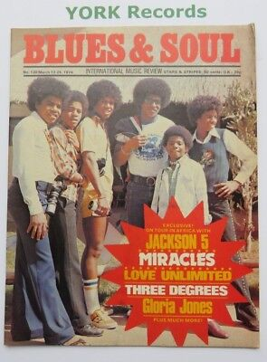 BLUES & SOUL - Issue 130 - March 12-25 1974 - Jackson 5 / Miracles