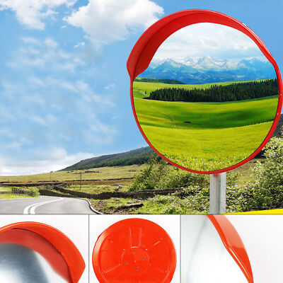 "New 18"" Security Mirror 45cmTraffic Driveway Safety Outdoor Convex PVC Sale!!"