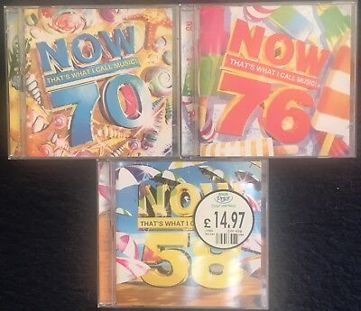 Now That'S What I Call Music 58 70 & 76 Cd Double Album Job Lot Vgc
