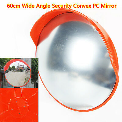 "New 24"" Wide Angle Security Curved Convex Road PC Mirror Traffic Driveway Safety"