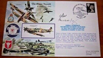 Rare - Wing Commander Hugh Godeyfroyd Dso,dfc* Signed Battle Of Britain Cover