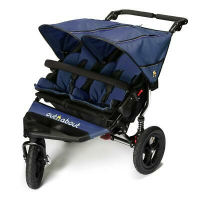 Out n About DOUBLE Nipper 360 V4 (Royal Navy) All Terrain for Twins, RRP £524.95